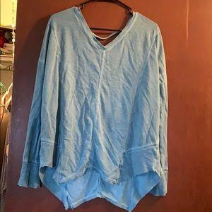 Maurice's light blue long sleeve shirt